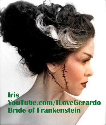 Bride of Frankenstein Hair Tutorial. Click photo to see how.