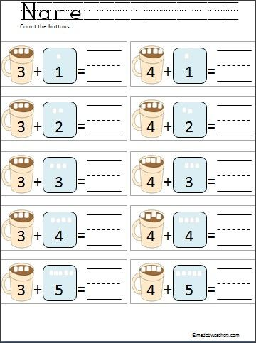 Best  Kindergarten Addition Worksheets Ideas On