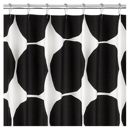 Marimekko Kivet Black Shower Curtain - modern - shower curtains - - by Crate