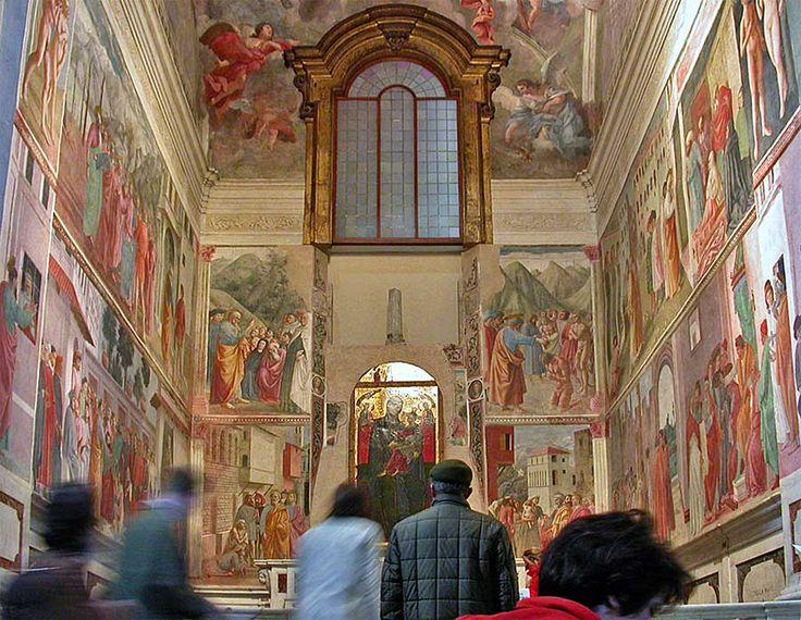 Chiesa di Santa Maria del Carmine - Cappella Brancacci - Gli affreschi commissionati, nel 1424, da Felice Brancacci, ricco mercante, illustrano la vita di San Pietro. Furono realizzati a più mani da Masolino da Panicale, da Masaccio e da Filippino Lippi intorno al 1480.