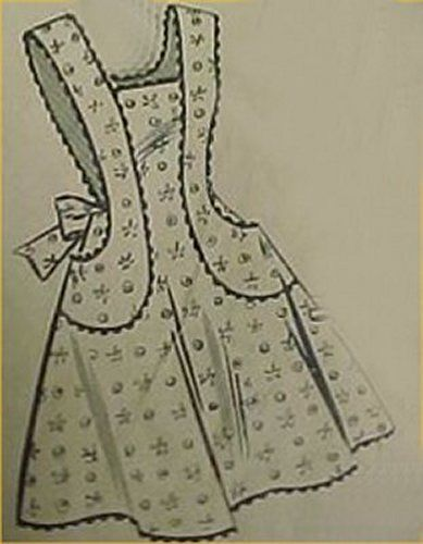Sale Vintage Bib Full Size Apron Pattern Classic Details Sewing Fabric Project | eBay