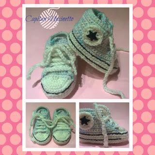 Capitan Uncinetto: Scarpine neonata sneakers