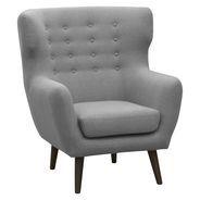 Georg Light Grey High Back Armchair