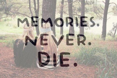 Best Friend Memories: Memories never die quotes friendship quote ...
