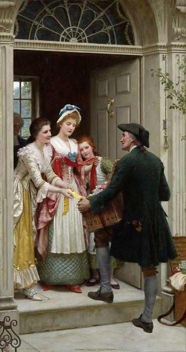 Эдмунд Блэр Лейтон 19-20 век. Англичанин. Романтизм и прерафаэлитизм: Ленты и тесемки для прелестных личиков