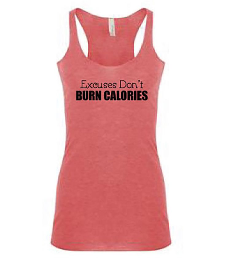 Excuses Tri-blend Racer Back Tank Top