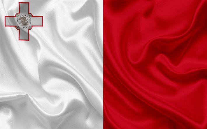 Download wallpapers Malta flag, Malta, Europe, flag of Malta, national flags