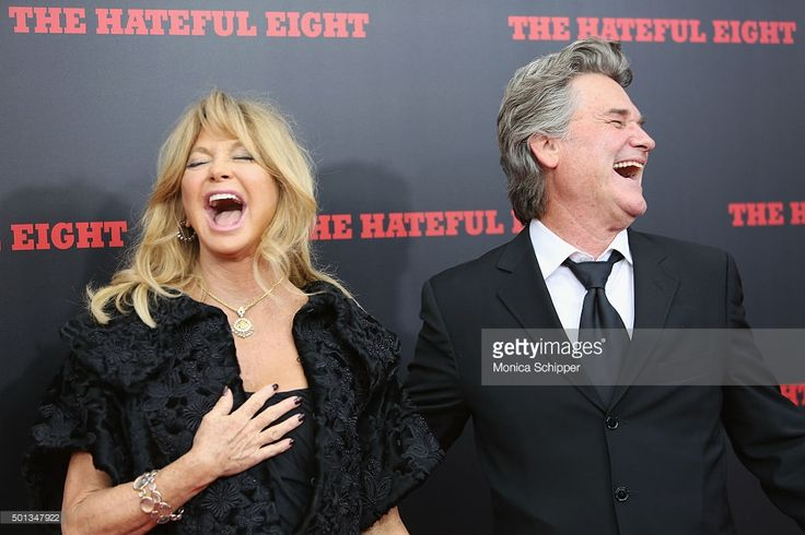 Actors Goldie Hawn (L) and Kurt Russell attend the The New York Premiere Of 'The Hateful Eight' on December 14, 2015 in New York City.
