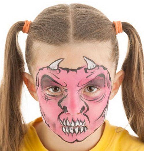 Trucco da mostro per Halloween in stile demone