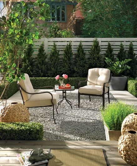I like the different levels materials and textures for Different patio designs
