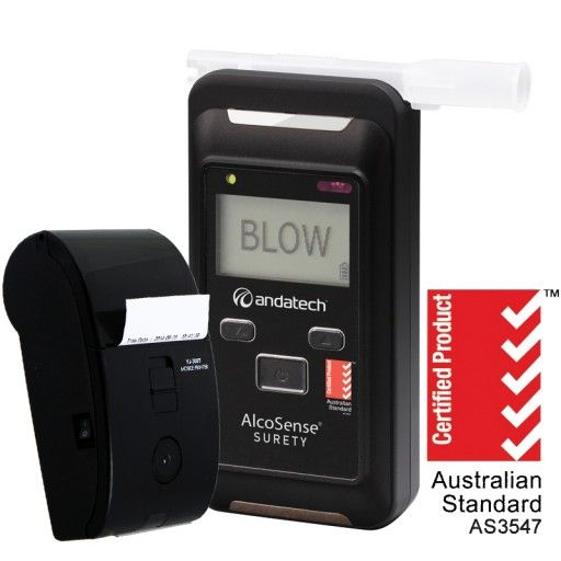Australian Standards AS3547 Certified  Bluetooth-enabled breathalyser  Stores up to 500 test results and more (with an SD card)  Comes with bluetooth printer.  Fast Results and Passive Testing (Fast Mode)  Dual mode testing - use with a mouthpiece for BAC or BrAC results accurate to 3 decimal places, or with a sampling cup on fast mode for quick results (Pass or Fail).