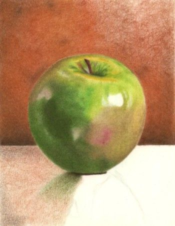 Colored Pencil Drawing Tutorial- How to Draw a Green Apple
