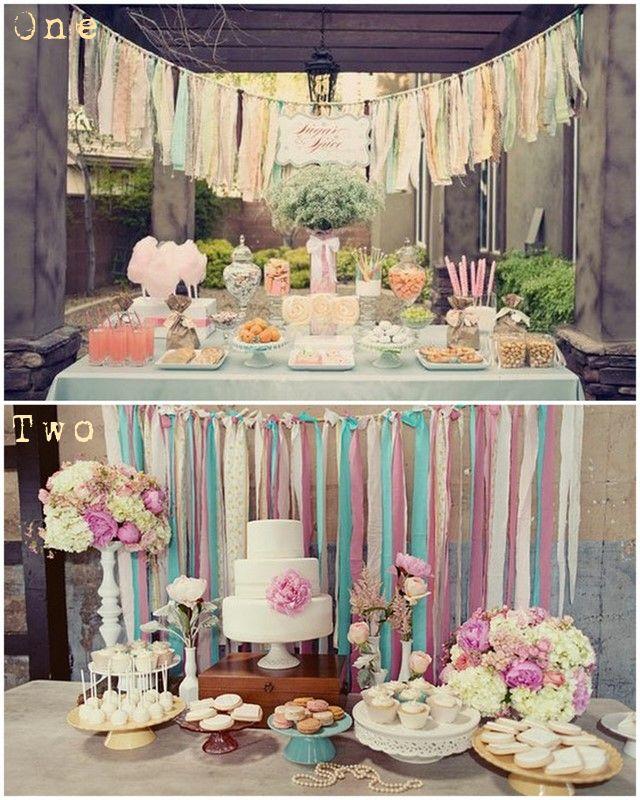 Wedding Dessert Table Backdrop: DIY Inspiration: Lace Ribbon Backdrops » Hemstitch Vintage