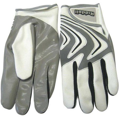 Riddell Armor Tac Speed Adult Football Glove Receiver/Running Back, White