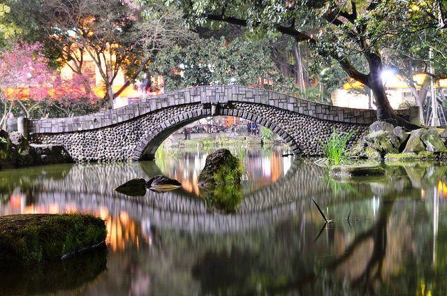 Puente en el Peace Memorial Park, Taipei (Taiwán)
