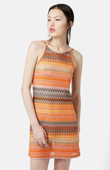Women's Topshop Crochet Lace Tunic Dress