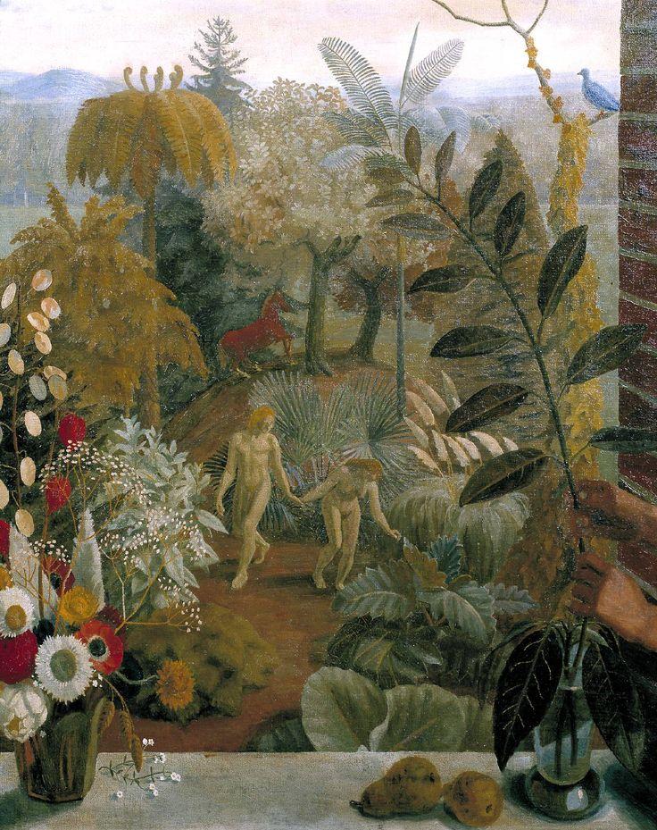 fleurdulys:  Adam and Eve in the Garden of Eden - Charles Mahoney 1936