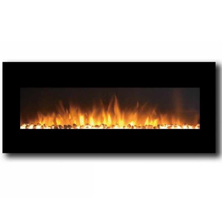 Features: -Smokeless scentless wall mounted electric fireplace with heater, 3 settings of high, low, and no heat (only flame effect) 1,500 watts (400 sq. ft.). -Wall mounting hardware included. -Th
