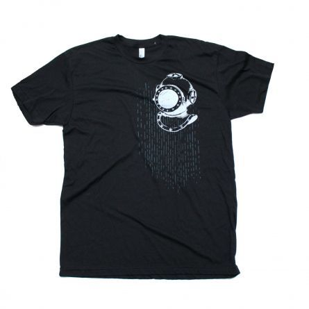 Gifts :: For Him :: Men's T-Shirt Deep Sea Diver Mask and Anchor on Black