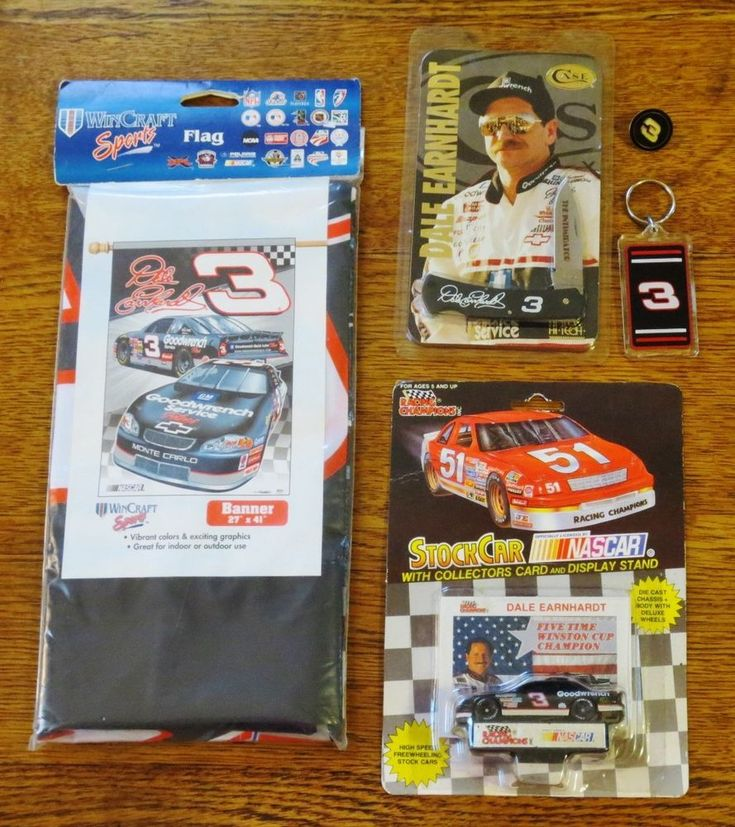 DALE EARNHARDT The Intimadator #3-NASCAR Collectibles-CASE KNIFE-Flag-DIECAST +