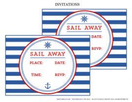 Free Nautical Party Printables + Extras!