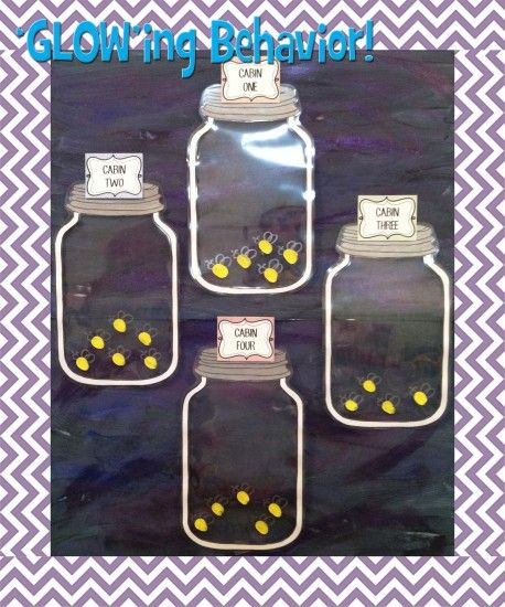 PBS Idea for summer camp- earn fireflies to put in their jar (velcro spots), when the spots are filled they get prize box or something special (maybe a token to add up towards prize box? or their name in the drawing for prize box?)