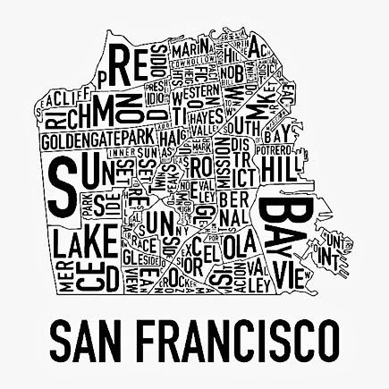 SF Neighborhood Map