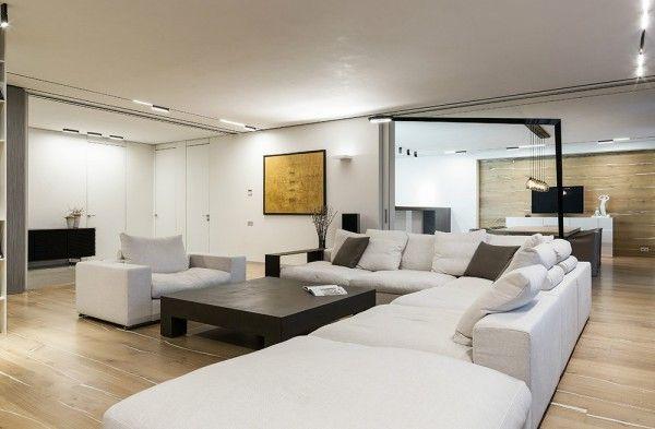Taupe cream L shaped sofa