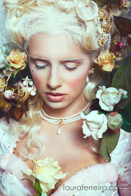 ❀ Flower Maiden Fantasy ❀ beautiful photography of women and flowers - Marie Antoinette by Laura Ferreira