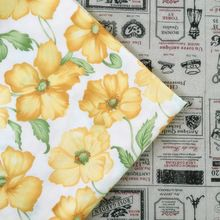 100% Cotton fabric yellow flowers Quilting Fabric for DIY Sewing Patchwork Kids Bedding Tilda Doll Baby Cloth Textiles Fabric(China (Mainland))