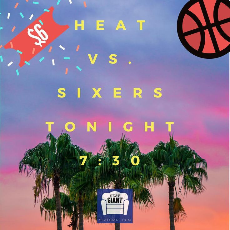 Whos in for a great deal for an upcoming #heat game? Tickets for tonights game start at ONLY $6! Thats cheaper than parking at the triple A! . . . . . . . . . #miamiheat #nba #basketball #sports #espn #philly #6ers #sixers #76ers #philadelphia #305 #cheap #game #tickets #heatnation #wadecounty