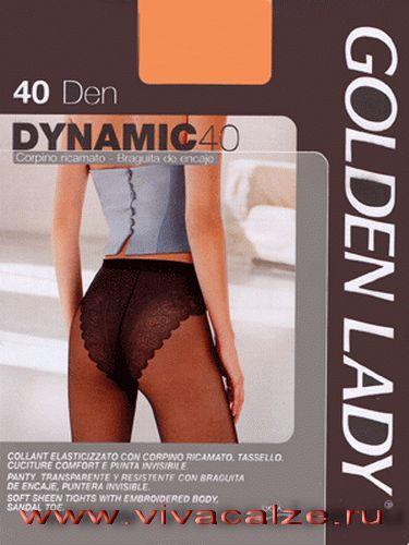 DYNAMIC 40 #Колготки тонкие, матовые, эластичные, с уплотненной верхней частью в виде ажурных трусиков, усиленный мысок.