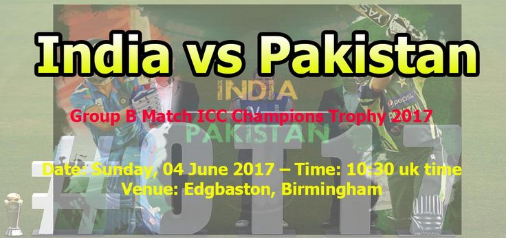 Pakistan vs India Live Streaming Champion's Trophy June 2017