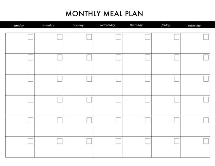 Printable Meal Planner Calendar : Diy printable planner planners and meals