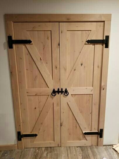 30 In X 84 In 2 Panel Barn Solid Core Unfinished Knotty Alder