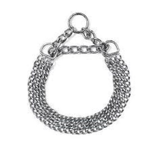 Rows Stainless Steel Dog Training Collars Choker Pet Chain