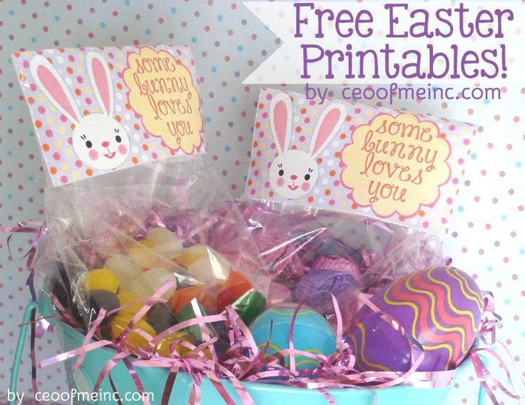Free Easter Printable Bag Topper and Cupcake Topper http://ceoofmeinc.com/easter-ideas-free-printable-easter-bag-toppers-and-cupcake-toppers/