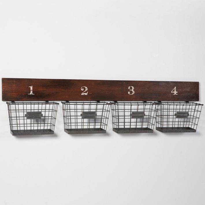 The 25 Best Wall Mounted Wire Baskets Ideas On Pinterest Storage Bins Basket Shelves And