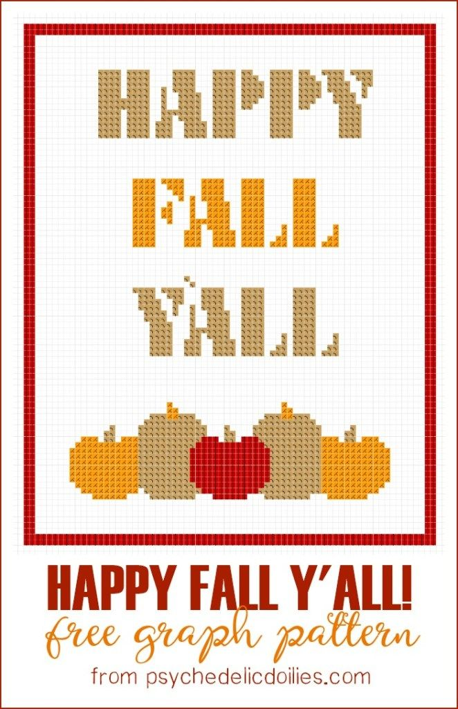 Happy Fall Yall Free Graph Pattern Crochet Graph Patterns For