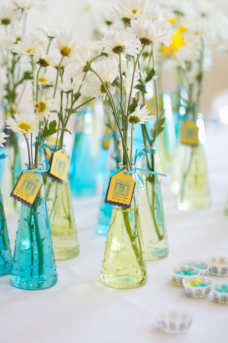 Brittany's wedding ideas Our wedding favours! Turquoise and yellow. Simplicity is best