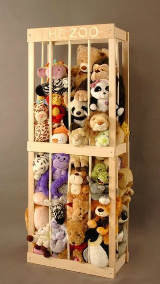 Stuffed Animal storage zoo, inspiration only.  Smaller size because I hope we don't ever have that many stuffies around!!