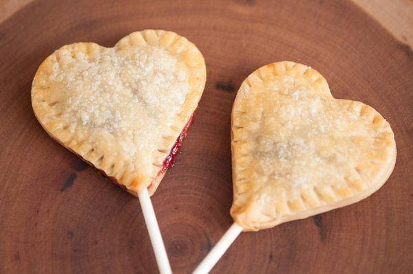 Cherry Jam Heart Pie Pops