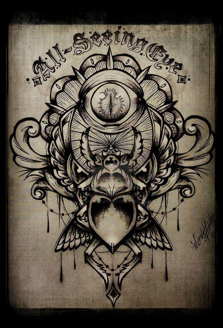 All-Seeing Eye by WerwolfSpirit429.deviantart.com on @deviantART