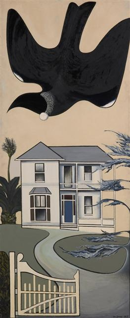 'Colonial Garden Bird' - Don Binney. Found out my WINZ entitlement today, time to flog the Binney. Bugger.