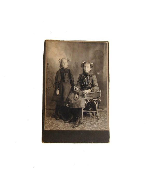Antique early 1900s studio portrait CDV photo of by evaelena, $6.50