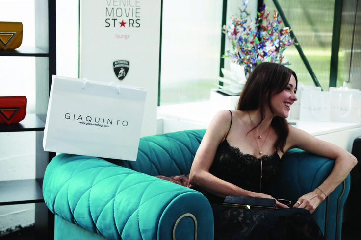 Anita Caprioli, Italian theatre and film actress, on our Derby Armchair during the 74th Venice Film Festival, in the Movie Stars Lounge.