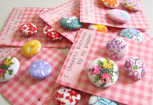 vintage fabric buttons $9.95