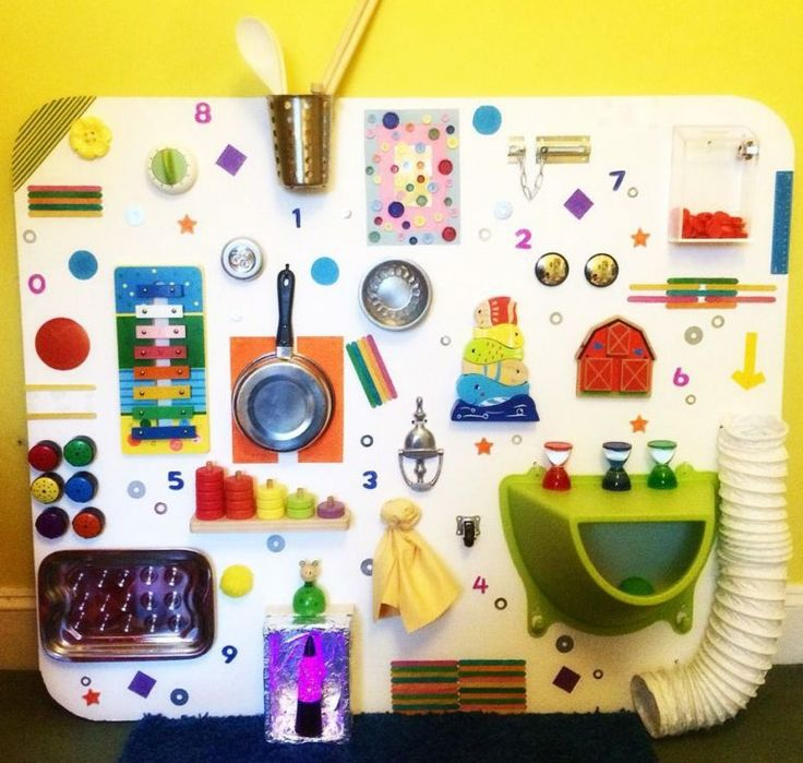 how to make a baby material sensory board