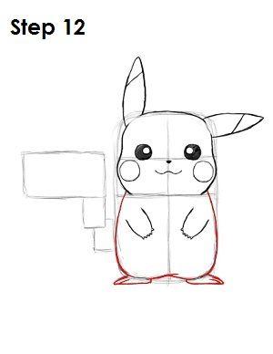 Draw Pikachu Step 12