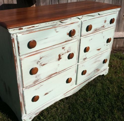 Alchemy Fine Living Refurbished This Old Dresser. I Love The Distressed  Look Of The Drawers